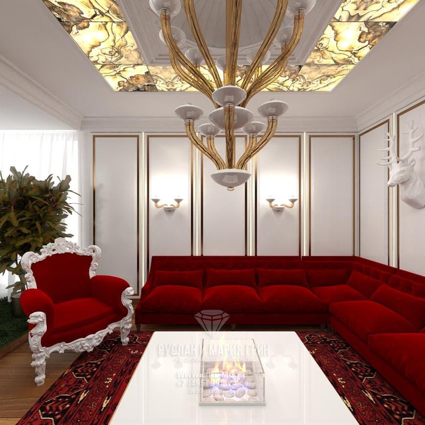 Современные идеи интерьера гостиной в стиле арт-деко
