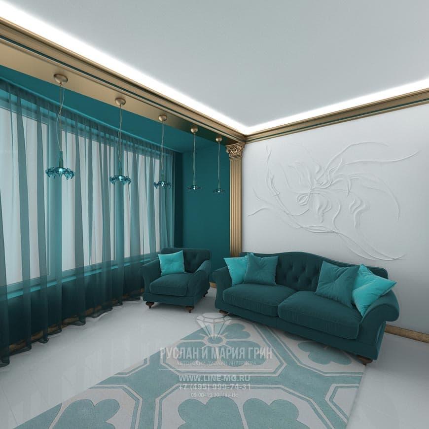 Фото интерьера кабинета в стиле арт-деко