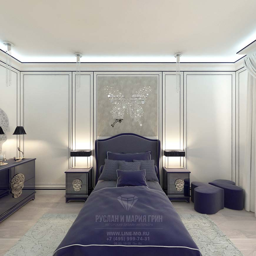 Interior design children's bedrooms in the house