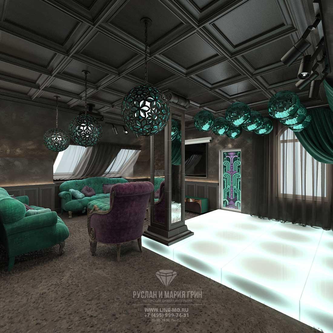 Design attic in a private house