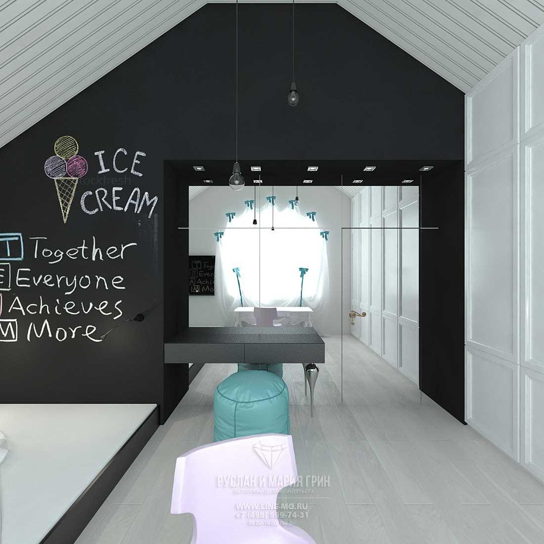 Дизайн гостевой детской комнаты для девочки. Фото новинки 2015