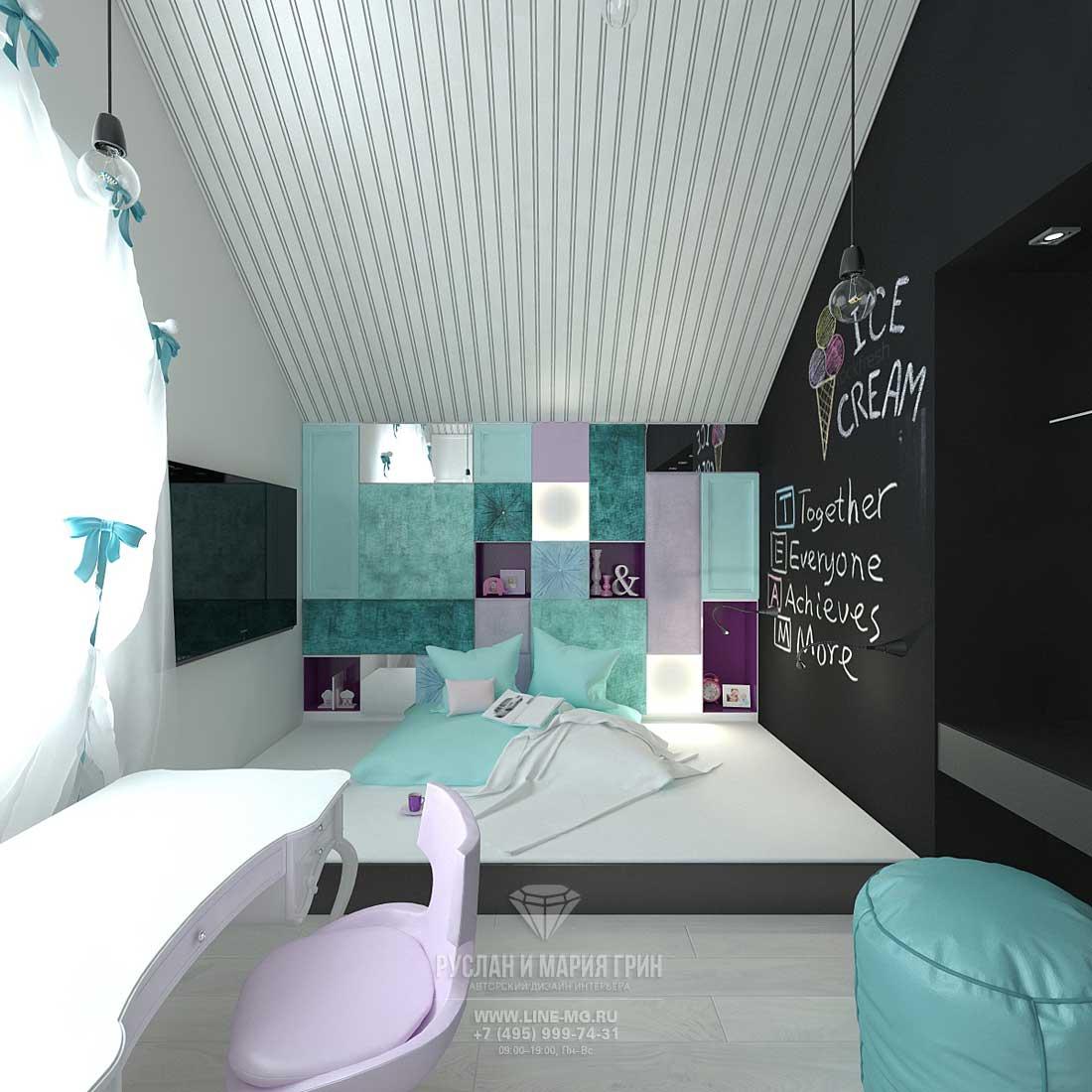 Дизайн гостевой детской комнаты для девочки. Фото новинки 2016