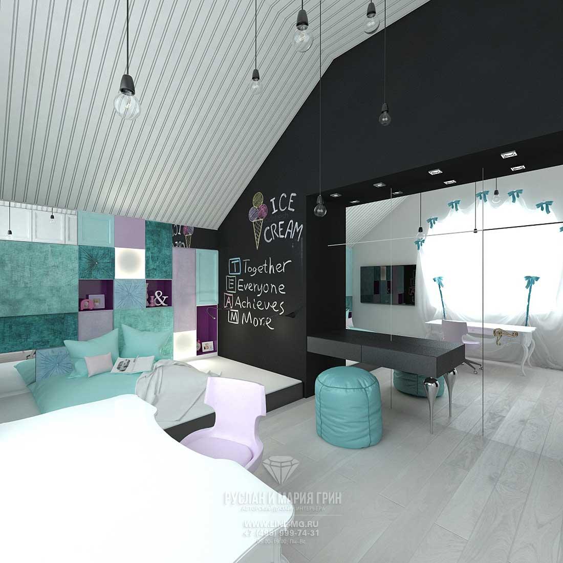 Дизайн гостевой детской комнаты для девочки. Фото интерьера 2015 года