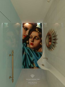 Дизайн санузла в частном доме с мансардой. Фото новинка 2015