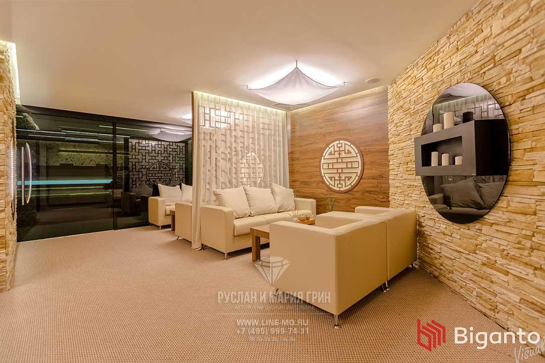 Фото интерьера зоны отдыха в клинике китайской медицины