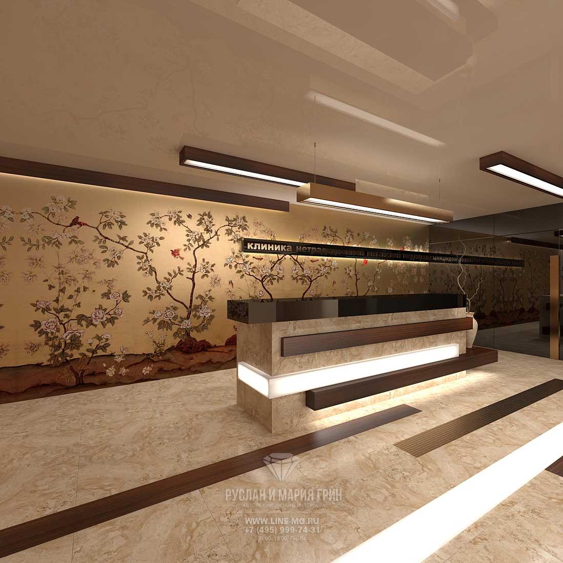 Современная идея дизайна клиники китайской медицины. Фото 2015