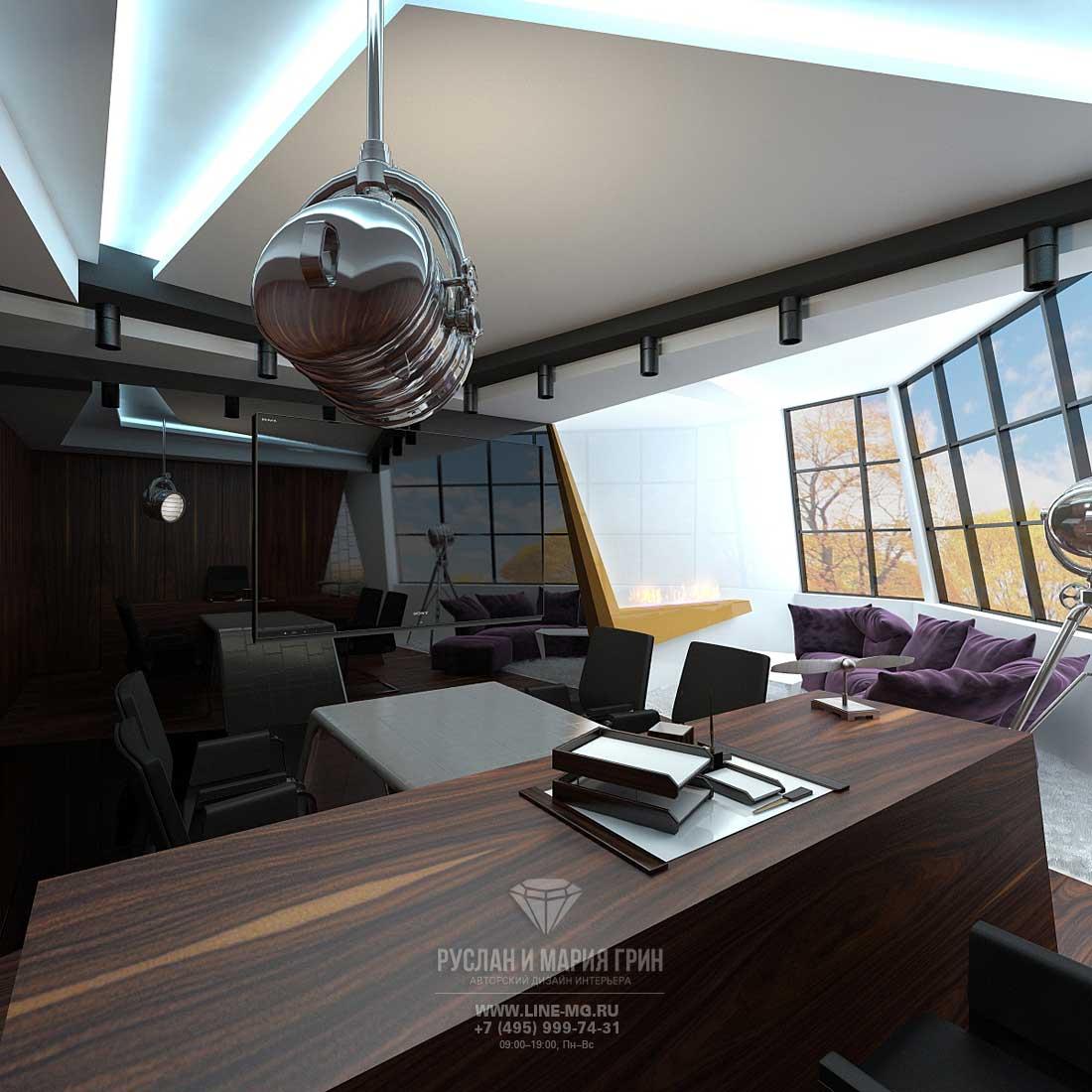 Дизайн офиса маленькой площади в современном стиле. Фото 2015