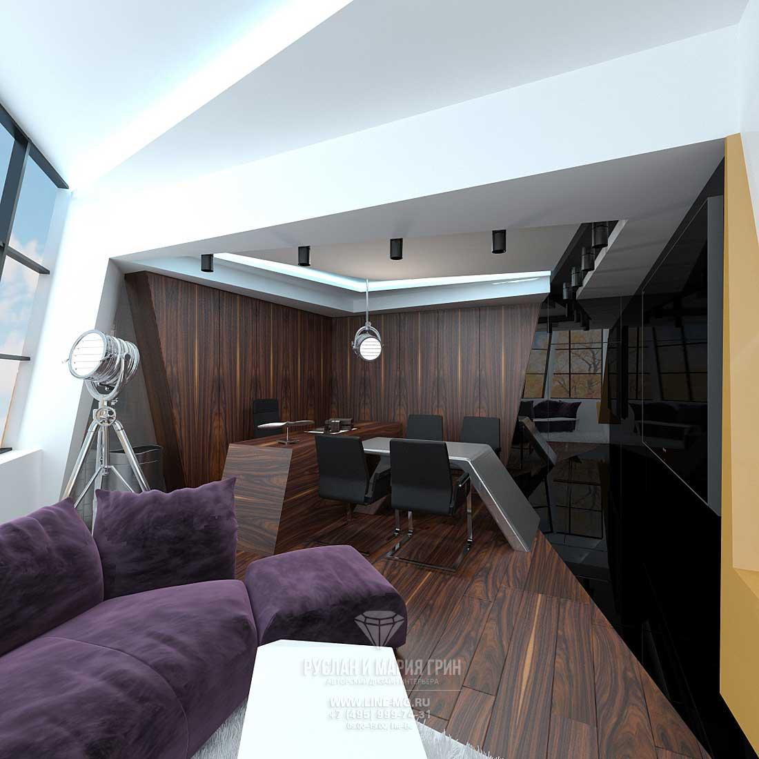 Дизайн кабинета руководителя мужчины маленькой площади. Фото 2015