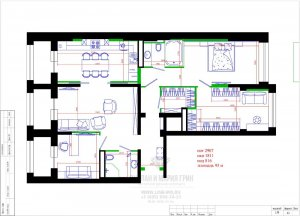 Вариант перепланировки квартиры
