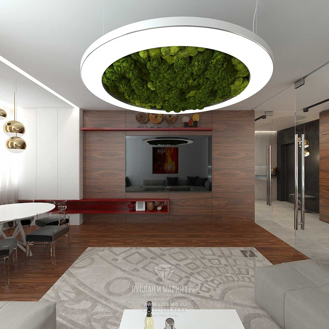 Современные идеи дизайна гостиной. Фото 2015