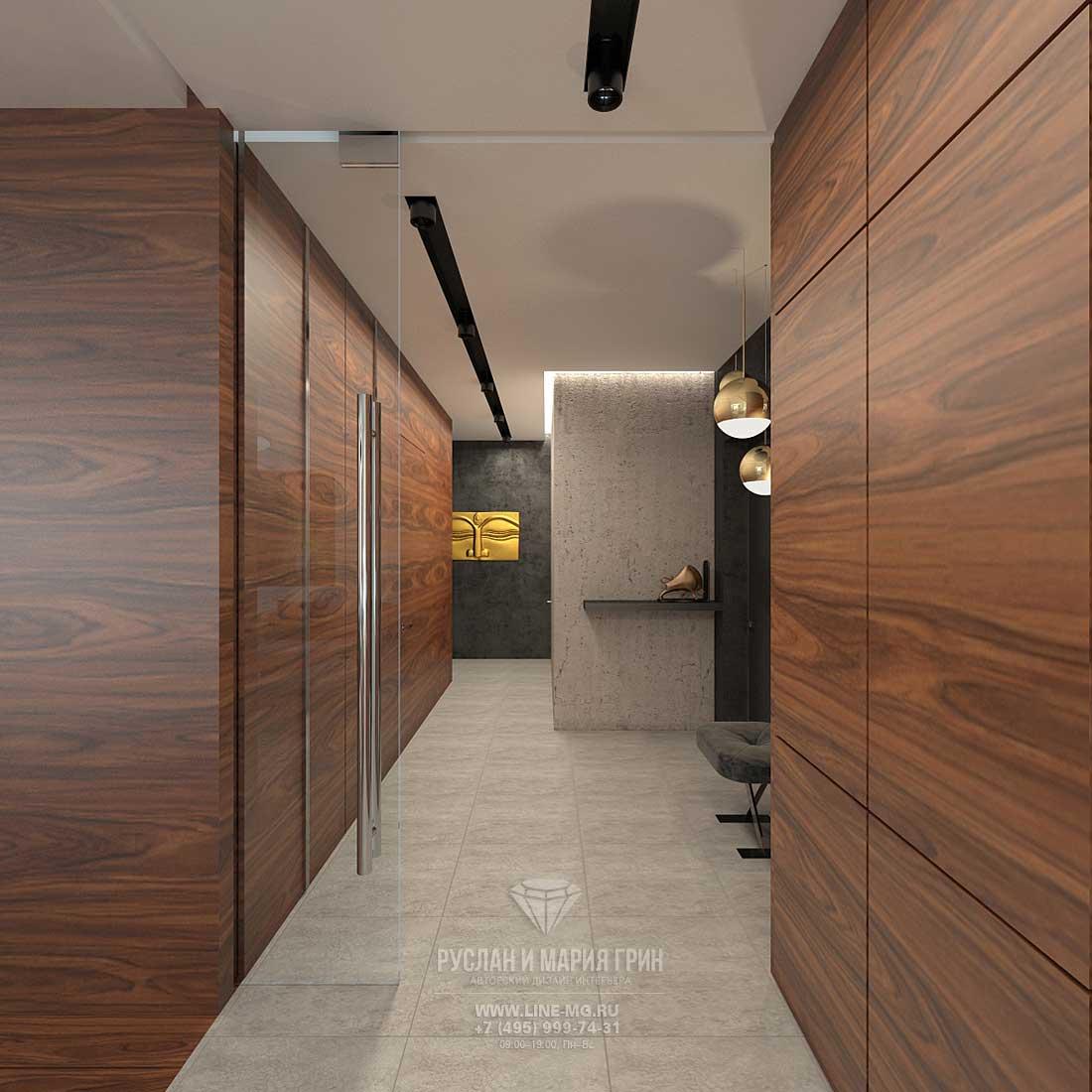 Дизайн проект кухни совмещенной с гостиной в бежевых тонах тонах 127