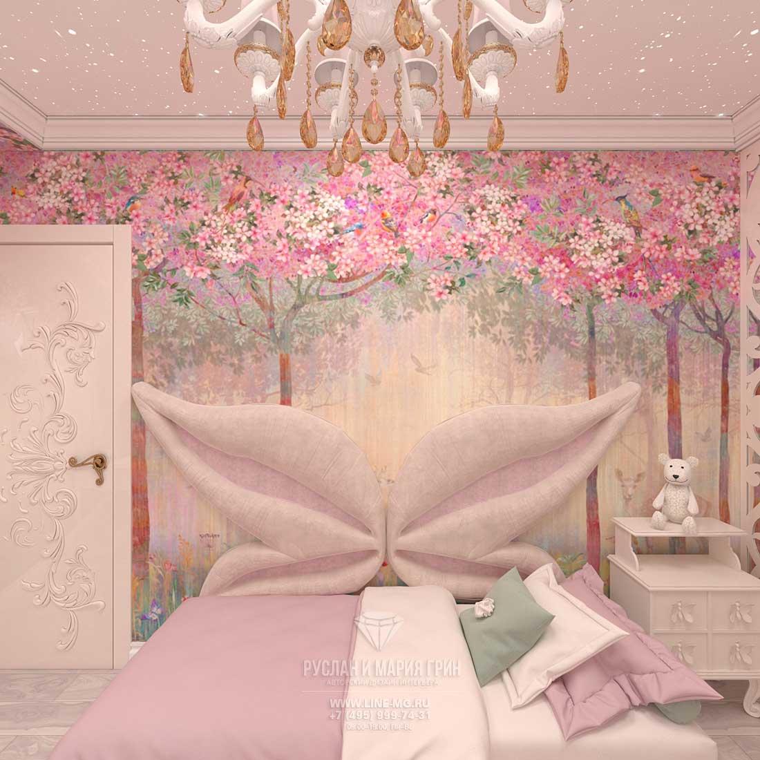 Дизайн детской комнаты для девочки: фото