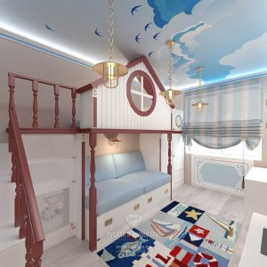 Дизайн детской комнаты в морском стиле