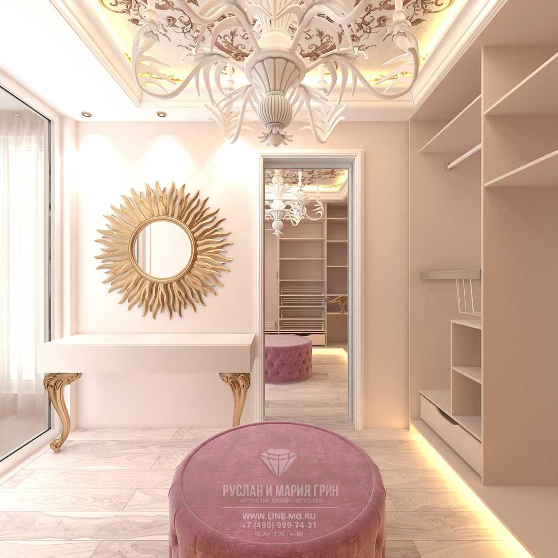 Дизайн просторной гардеробной