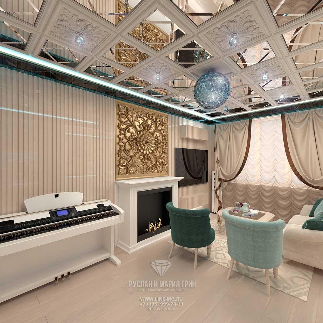 Современные идеи дизайна гостиной в бежевых тонах