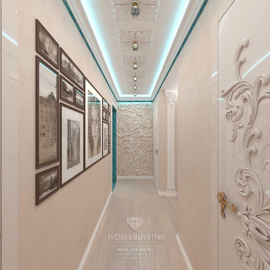 Дизайн интерьера светлой прихожей