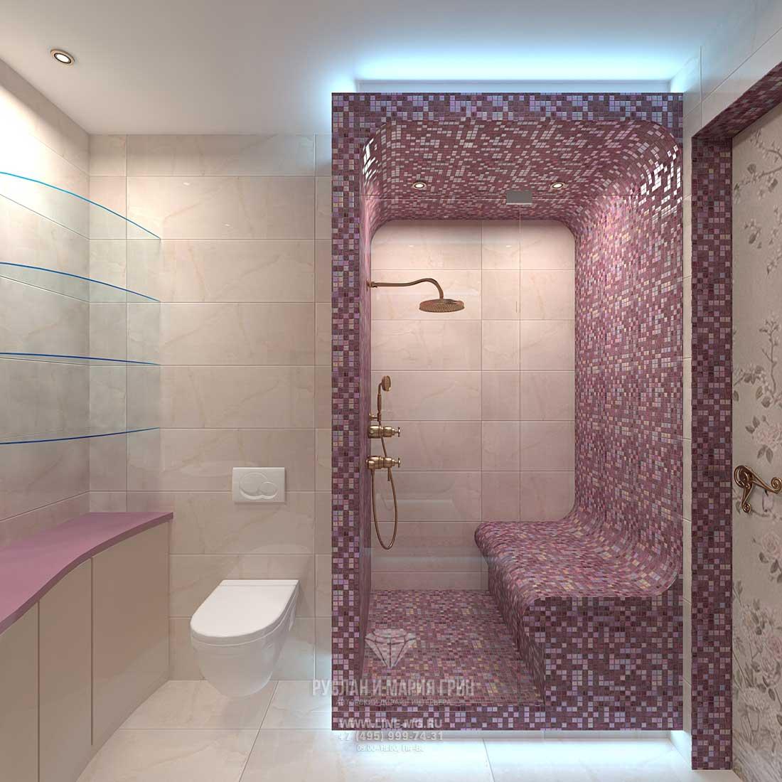 Дизайн интерьера санузла при спальне
