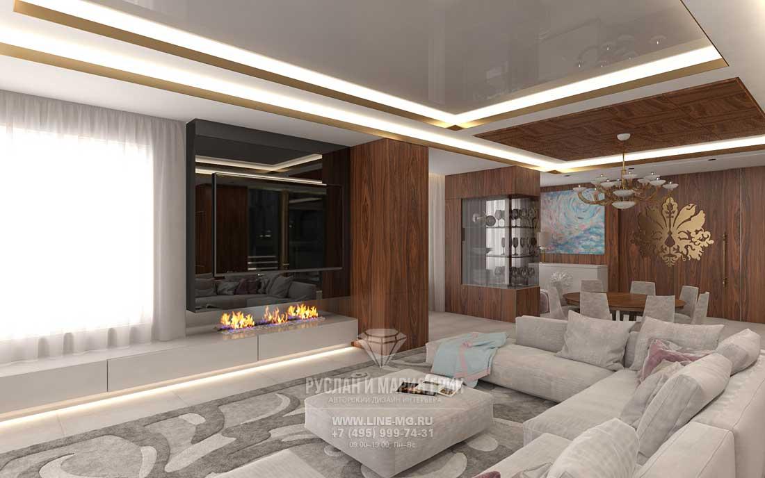 Дизайн проекты гостиной с мебелью