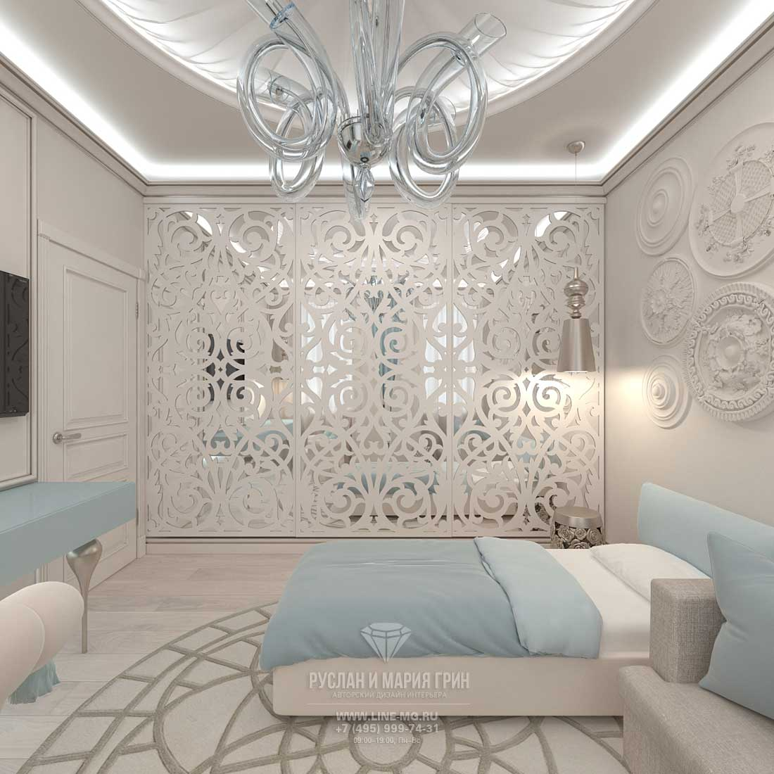 Комната в светлом стиле фото