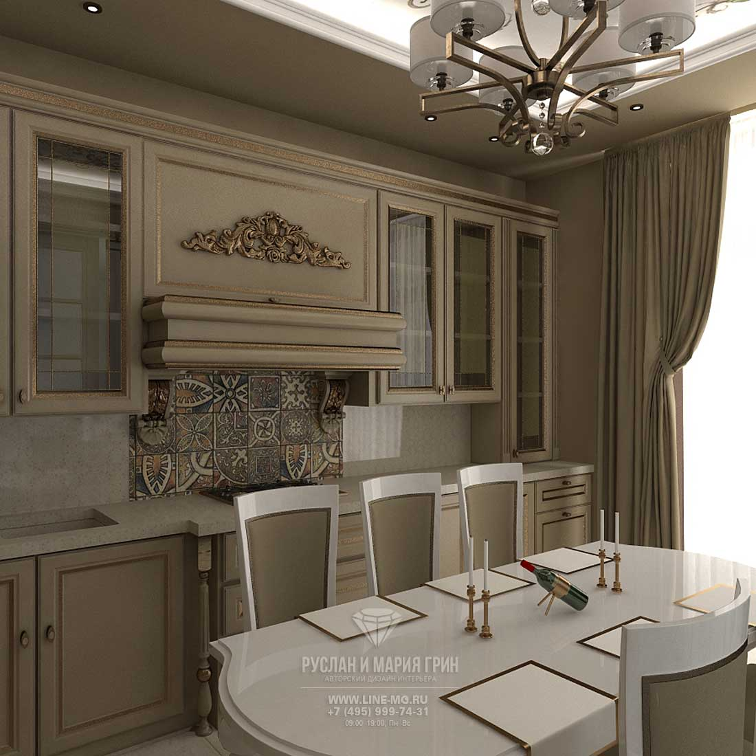 Дизайн бежевой кухни в квартире