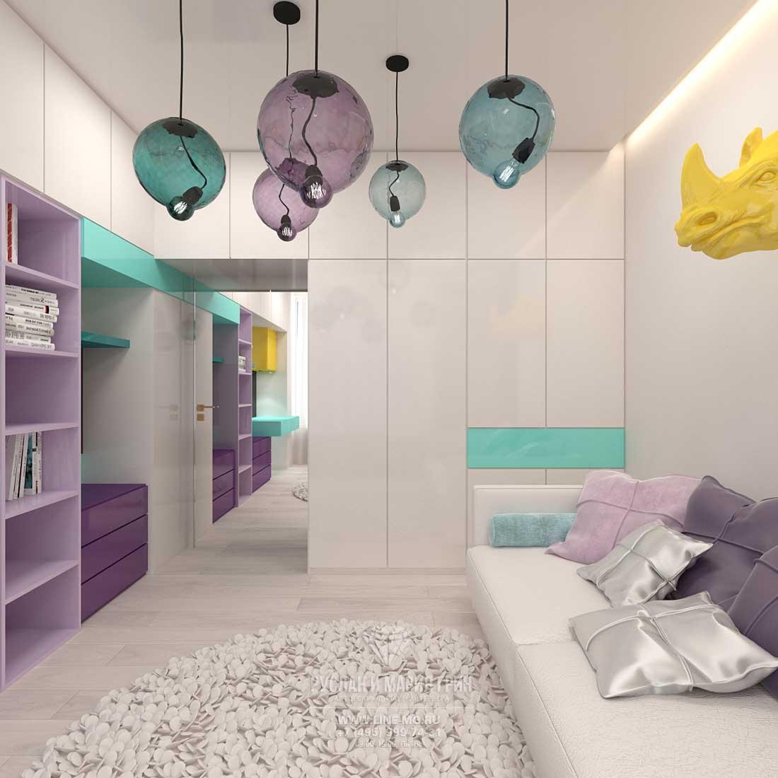 Дизайн детской комнаты для девочки в современном стиле