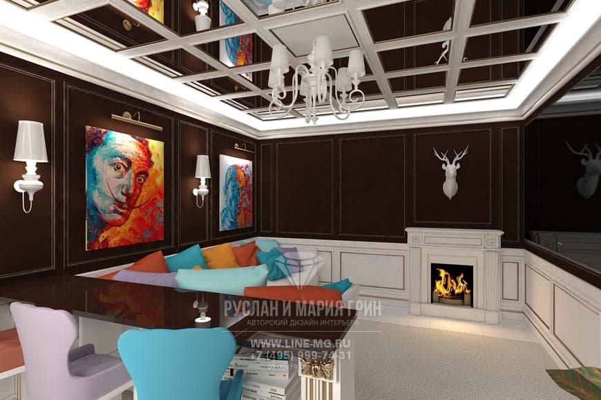 Дизайн интерьера домашнего кинотеатра в доме