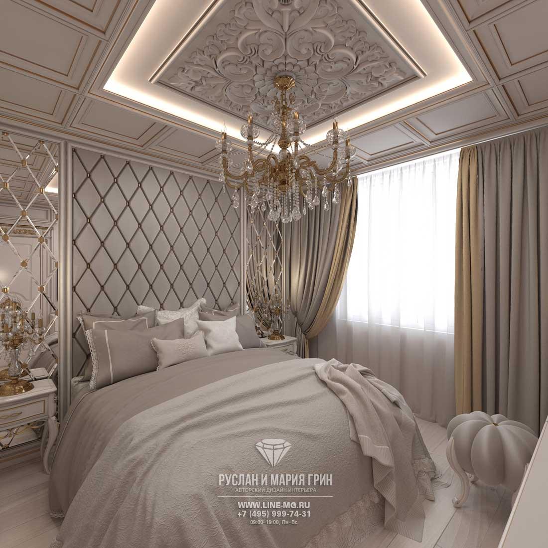 Дизайн интерьера спальни в светлых тонах