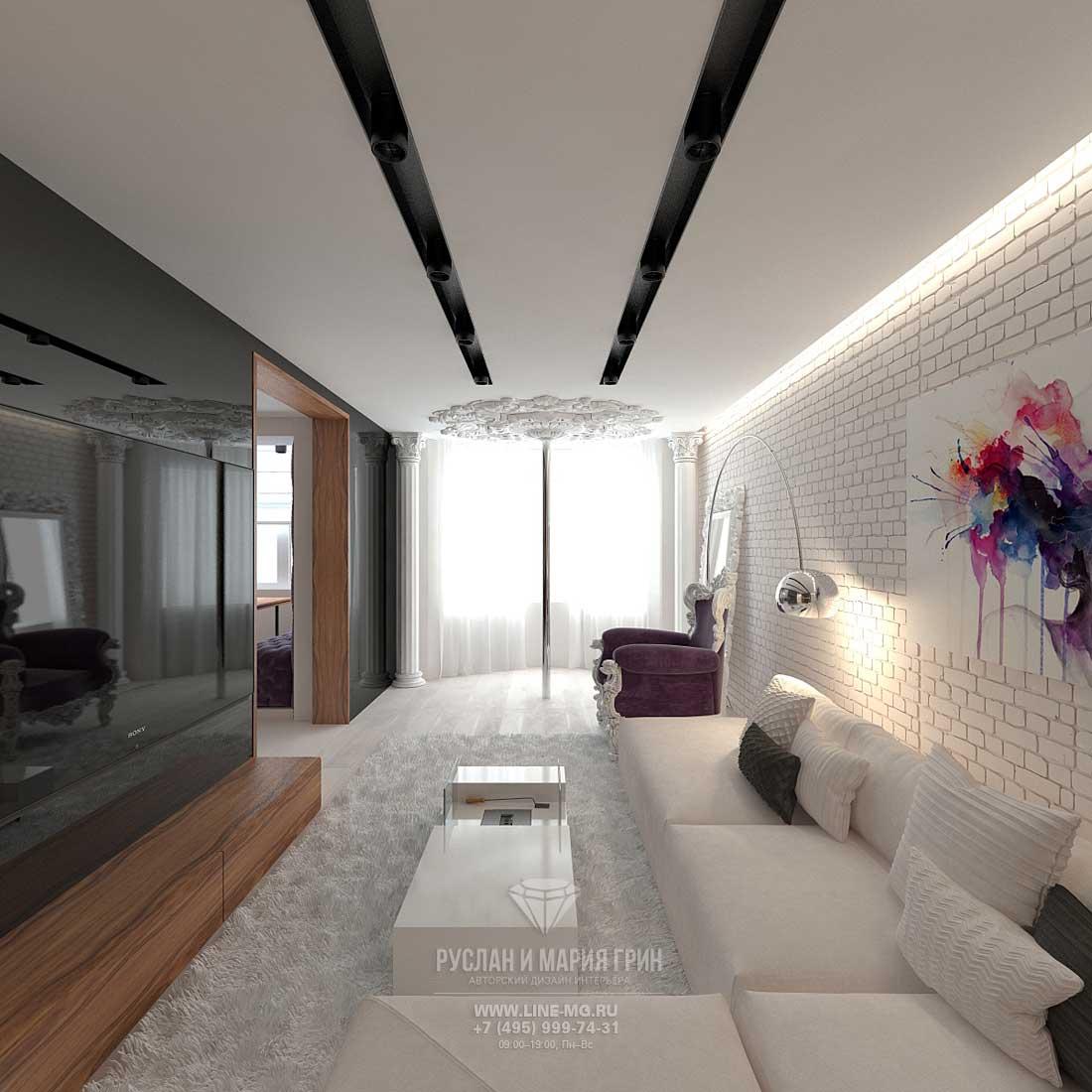 Ремонт гостиной в стиле минимализм
