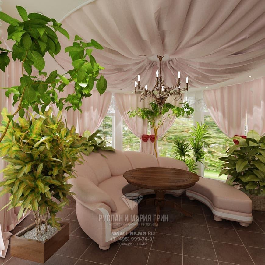 Дизайн зимнего сада в Барвихе