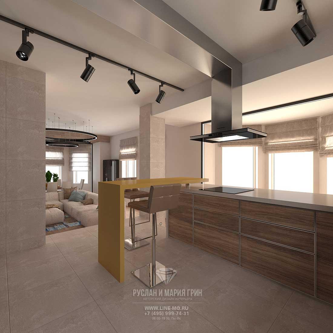 Дизайн современной кухни с гостиной: фото 2016