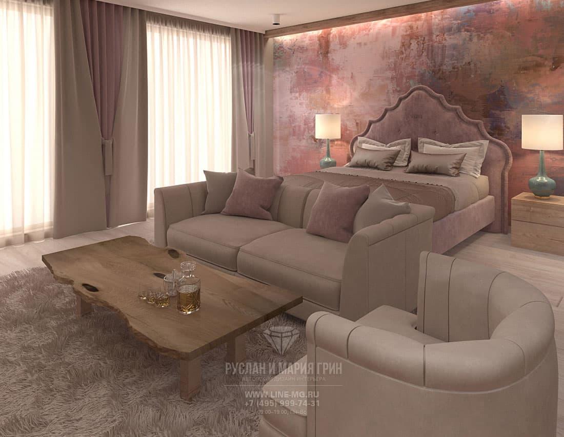 Дизайн интерьера спальни в апарт-отеле