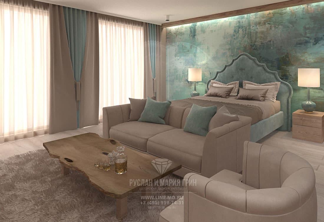 Дизайн спальни в апарт-отеле