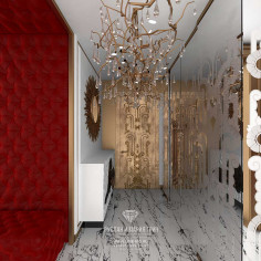 Дизайн интерьера коридора в стиле модерн