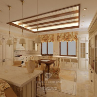 Дизайн интерьера кухни в загородном доме