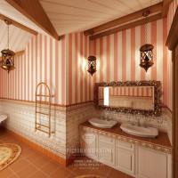 Дизайн интерьера санузла в доме из бруса