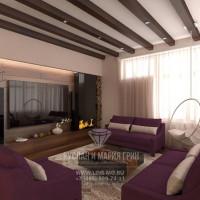 Дизайн интерьера гостиной в современном экостиле