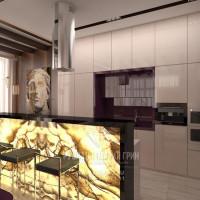 Дизайн интерьера кухни в современном экостиле