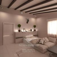 Дизайн интерьера светлой спальни в загородном доме
