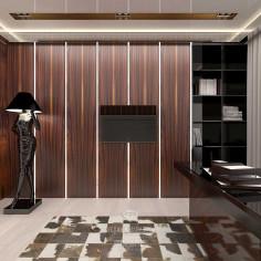 Дизайн интерьера кабинета с элементами арт-деко