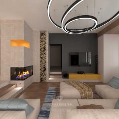 Дизайн интерьера загородного дома в современном стиле