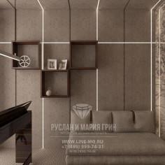 Дизайн интерьера кабинета в стиле лофт