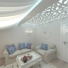 Дизайн интерьера мансарды в загородном доме
