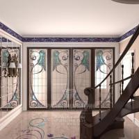 Дизайн интерьера холла в стиле арт-деко