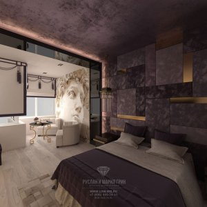 Дизайн квартиры: новинка 2017. Фото спальни в стиле арт-деко