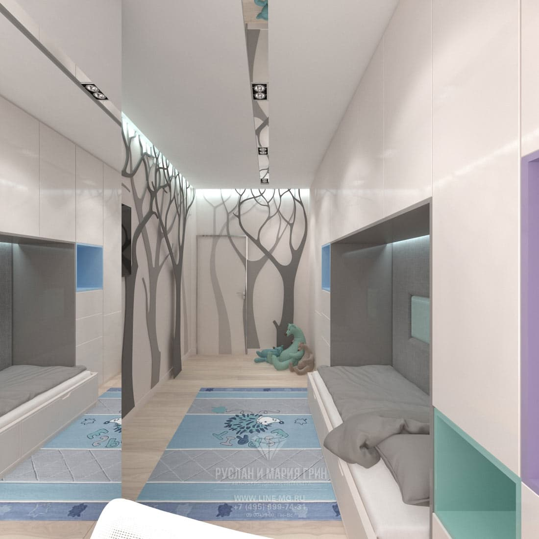 Дизайн красивой квартиры. Фото интерьера детской комнаты в современном стиле