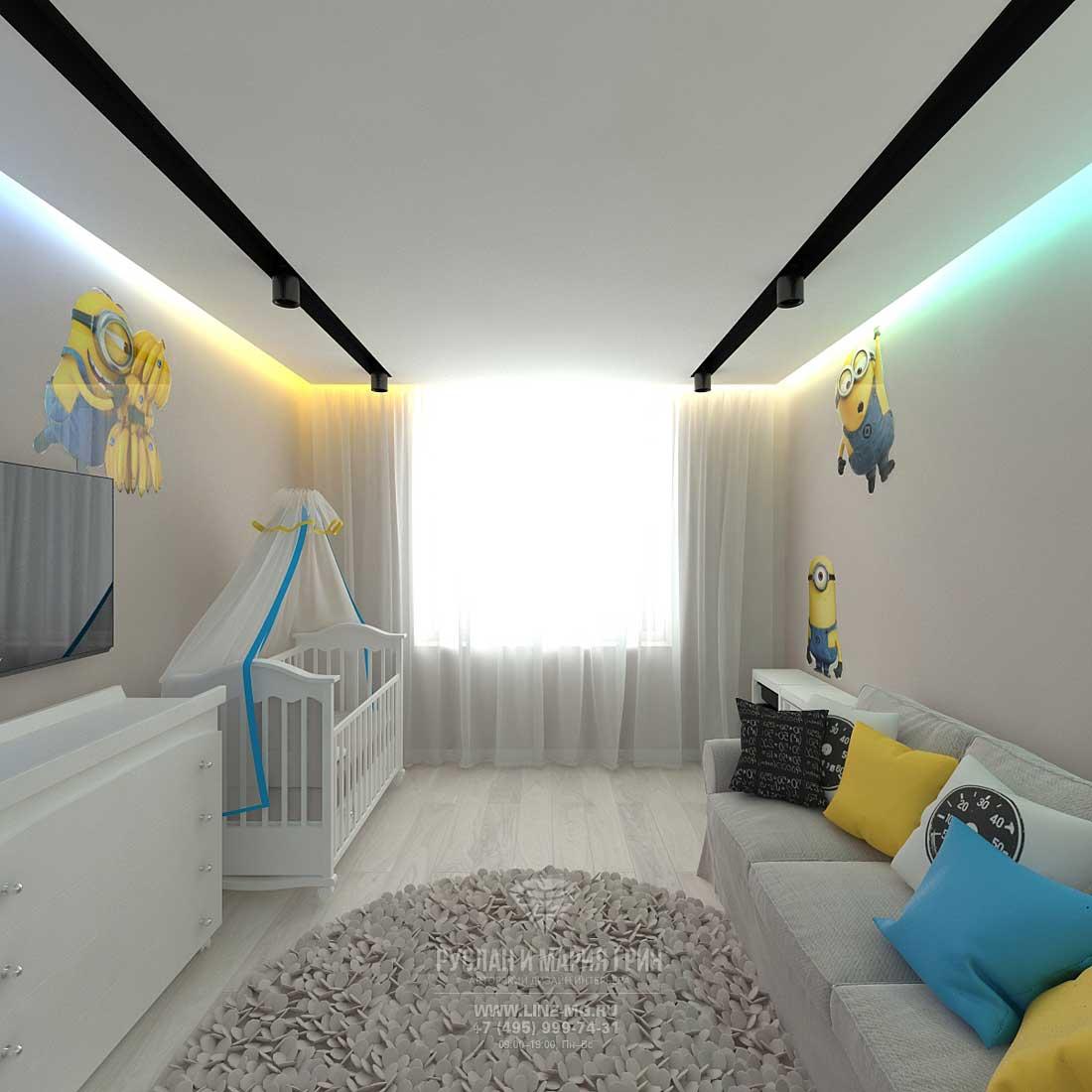 Дизайн красивой квартиры. Фото интерьера детской в современном стиле