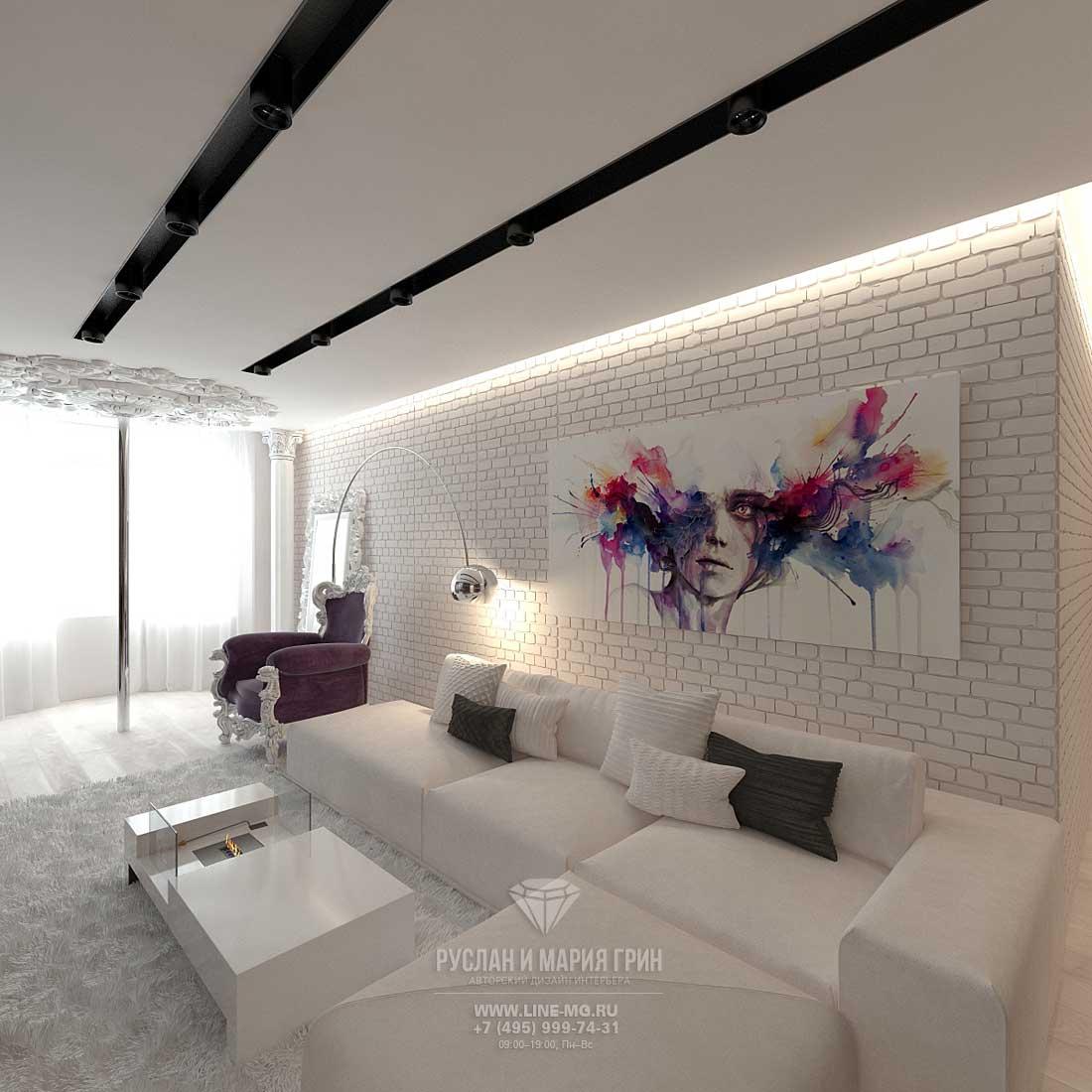 Дизайн красивой квартиры. Фото интерьера современной гостиной
