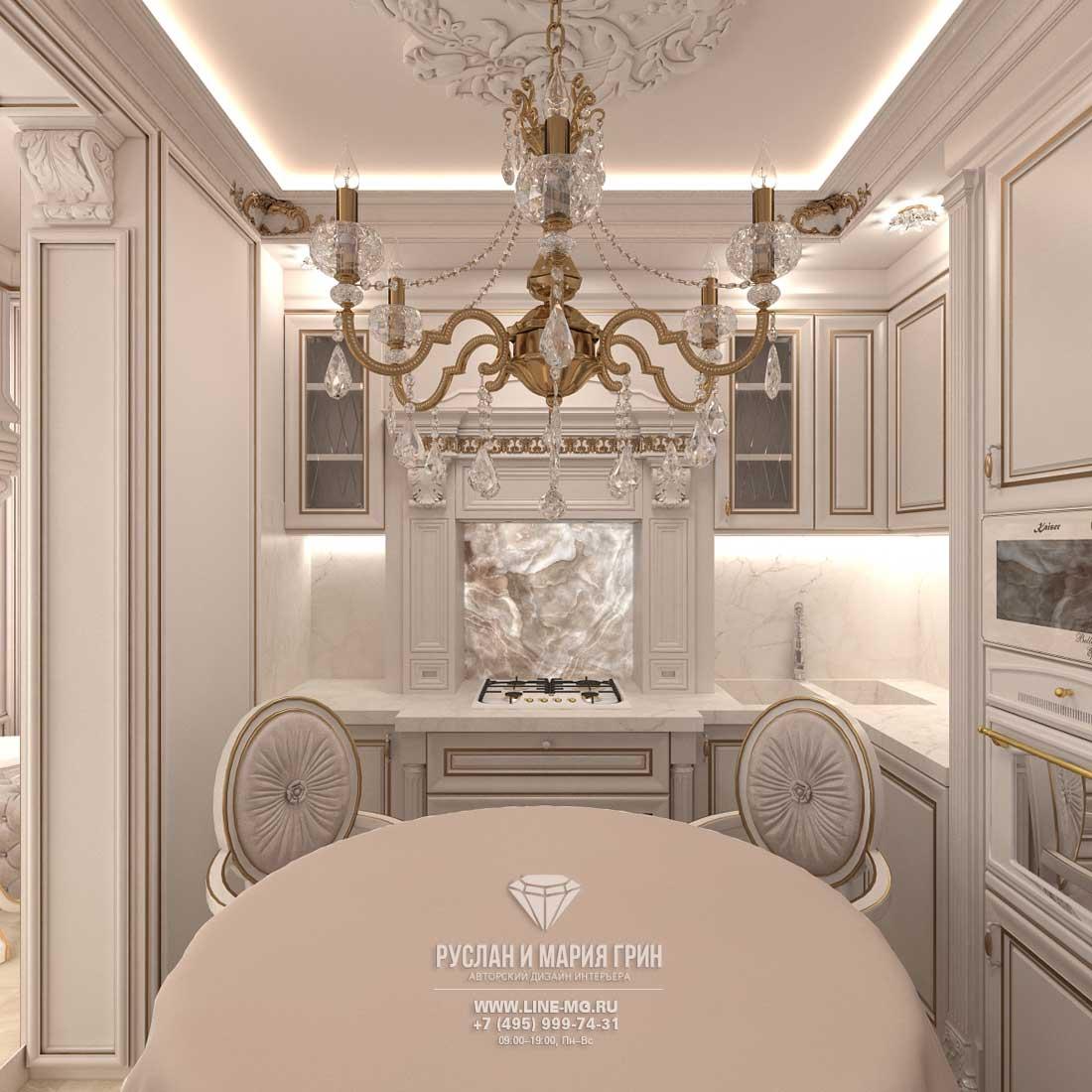 Дизайн красивой квартиры. Фото интерьера кухни