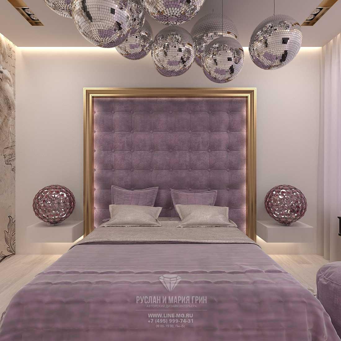 Дизайн красивой квартиры. Фото интерьера спальни в стиле арт-деко