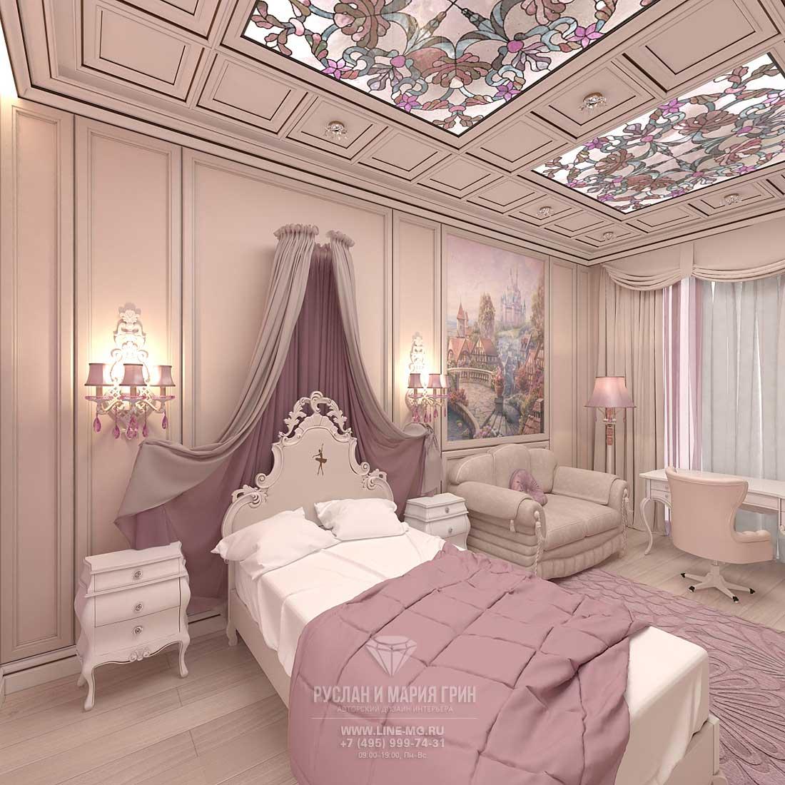 Элитный ремонт квартиры в Москве. Фото интерьера детской комнаты